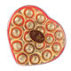 Vietnam GILLIA Golden Wrapped Filled Chocolate Cocoa Heart Shape 150G
