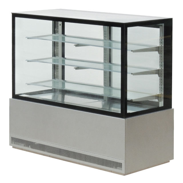 Bakery equipment cake display fridge showcase / cake display chiller with 3 floor