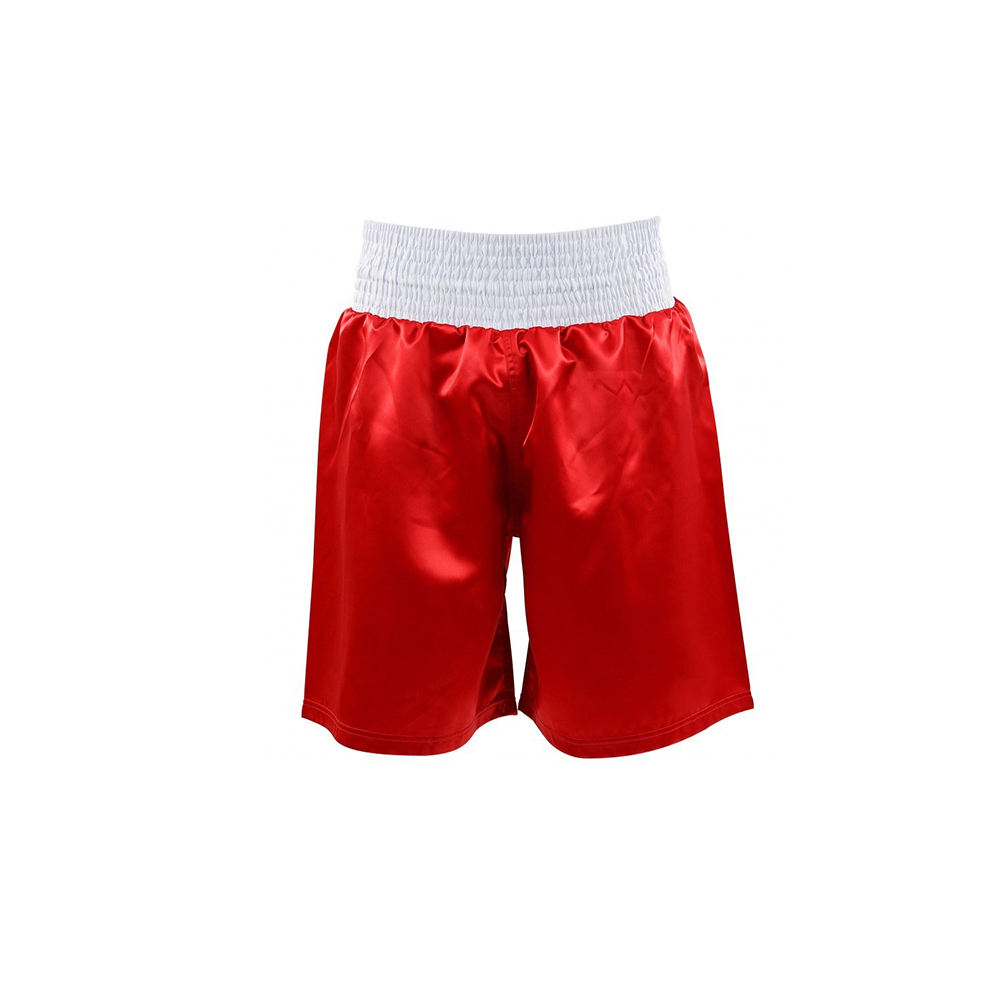 Factory Manufacturers Men's Muay Thai Shorts In Red Color Boxing Short For Sale