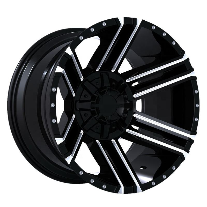 C102 Off-road wheels deep dish alloy rims 20x10-12 inch machined car wheels hubs made in China