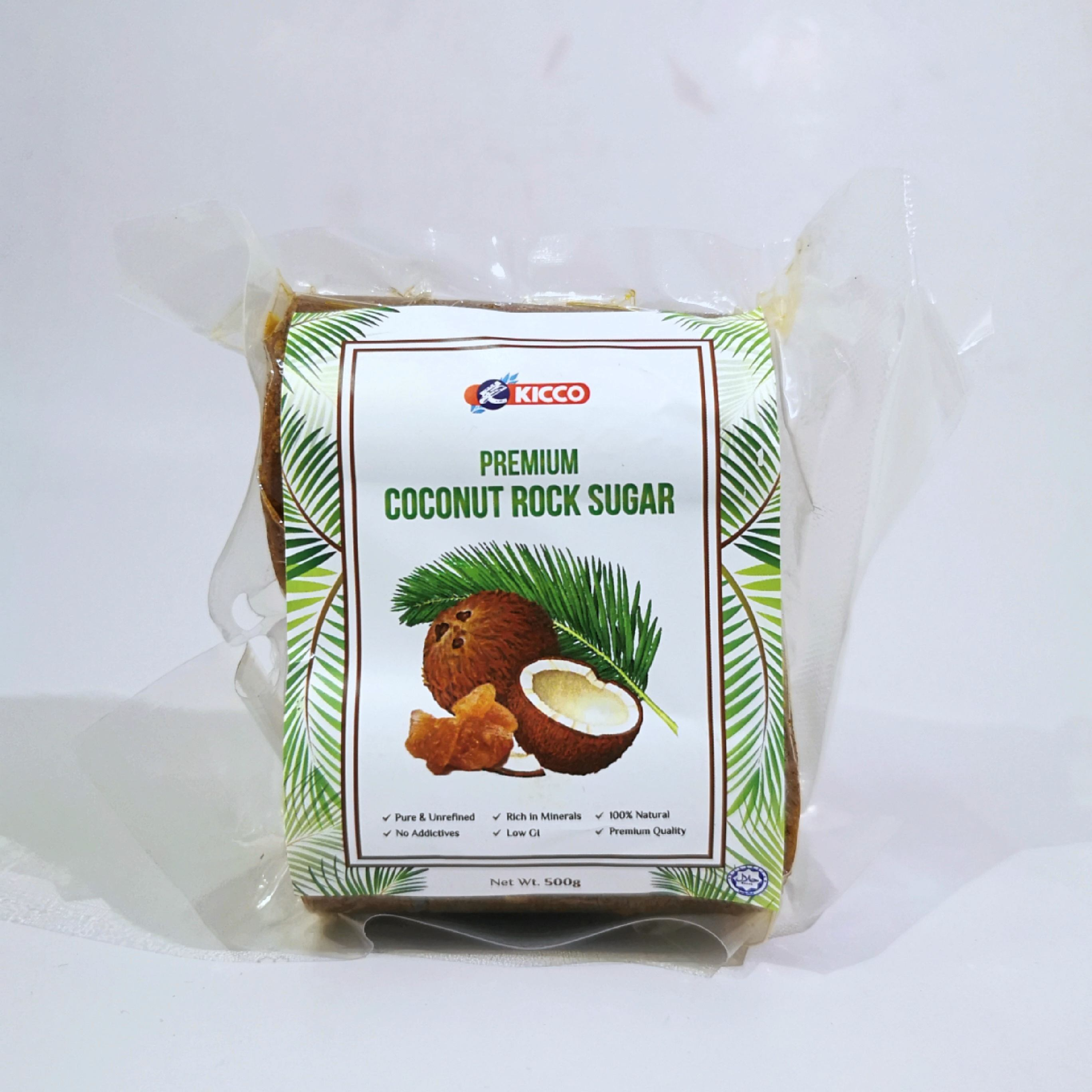 Kicco Coconut Rock Sugar / Premium quality 100% natural aromatic pure & unrefined Malaysian Coconut Sap/Nectar Sweet Taste