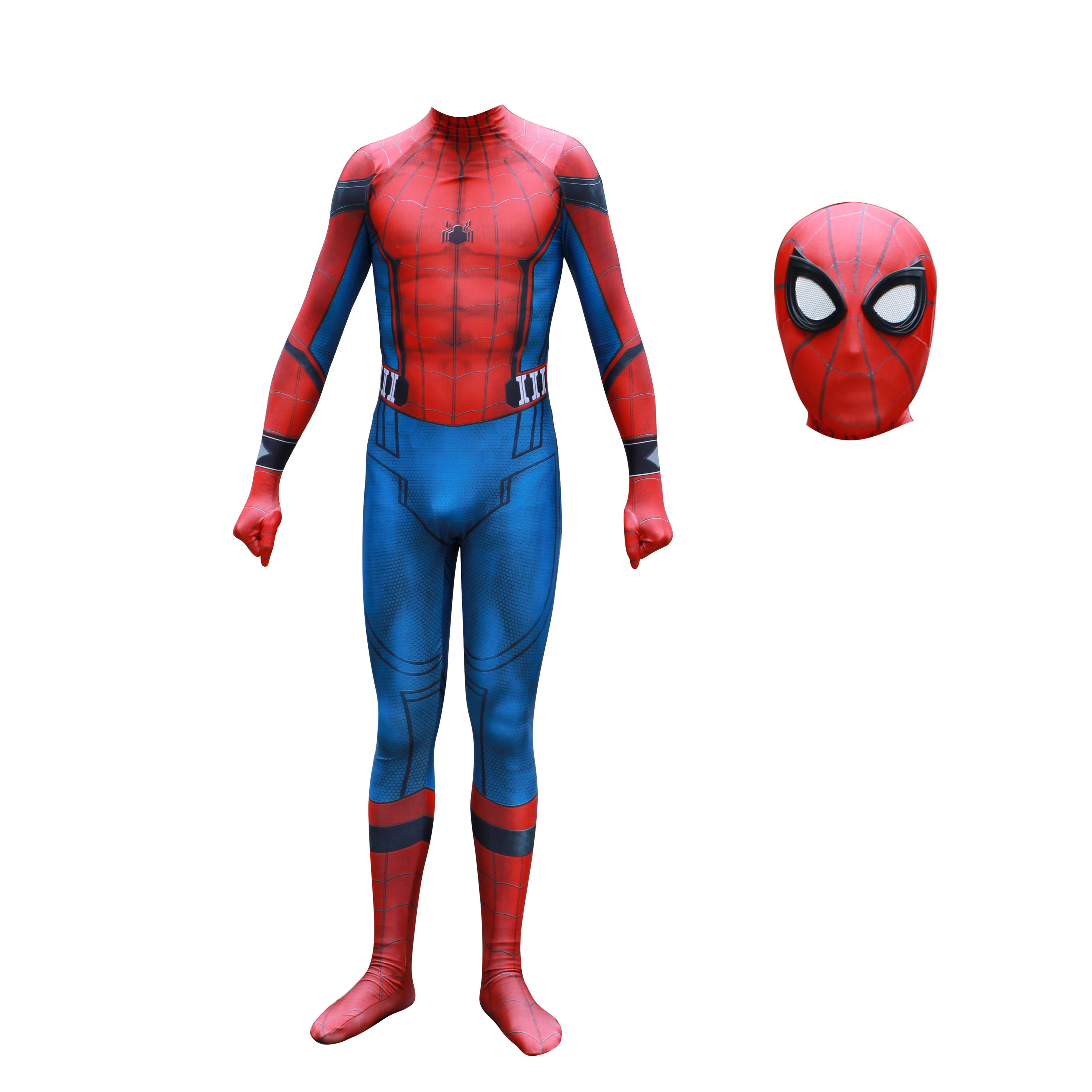 Halloween super héros zentai Unisexe Spandex Spiderman Homecoming Cosplay Costume