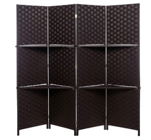 Room Divider Privacy Screen, Foldable Panel Partition Wall Divider, Room Dividers and Folding Privacy Screens with Shelves
