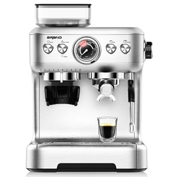 Espresso coffee and cappuccino machine with grinder