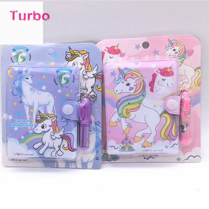 Austria Top Sale stationery gift items planner custom Advertising gift cartoon lovely unicorn writing notebook with pen attached