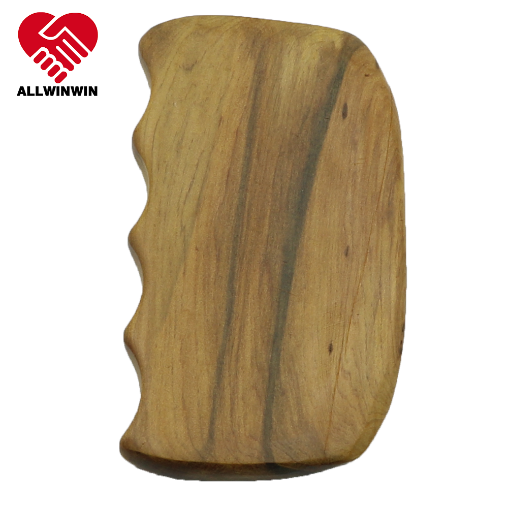 ALLWINWIN WDM17 Wooden Gua Sha Tool - Comb Incense Cedar Tennis Elbow Knee Pain Clean