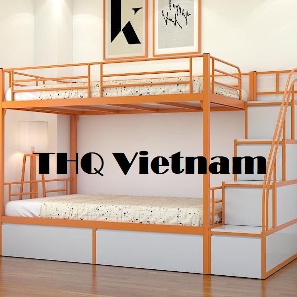 [THQ Vietnam] Modern style white steel bunk bed - cheapest price