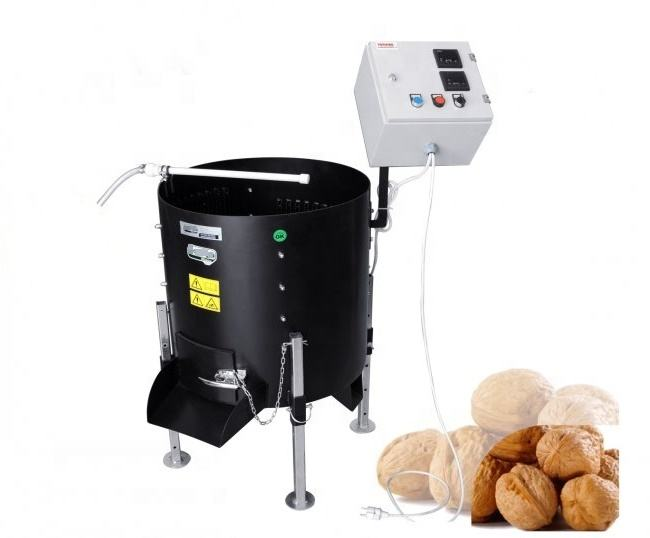 Walnut Peeling Variable Speed, Time Setting with Fuji Driver, Walnut Shelling Machine Walnut Peeling Kernel Walnut Hulling 170Lt