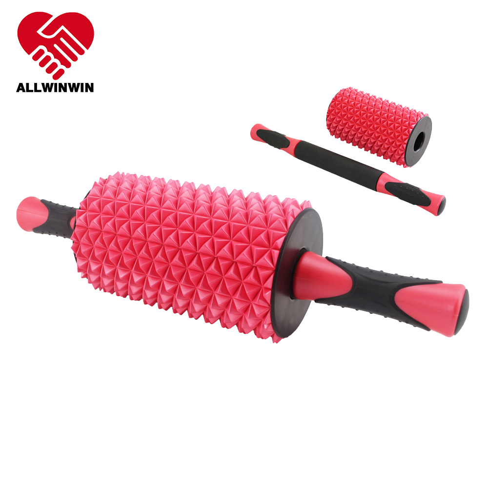 ALLWINWIN ABW03 Ab Wheel - Pineapple Detachable Foam Roller Massage Stick Exercise Easy Grip