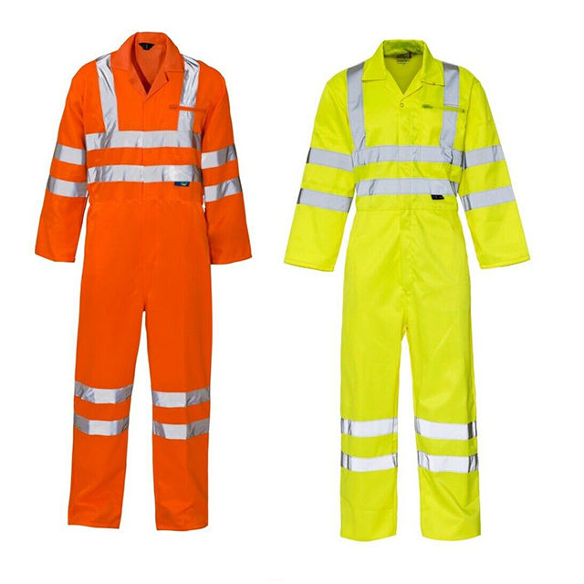 Advanced Cotton Overalls mit High Visibility Reflective Tape Arbeits overall Für Männer Frauen-Racing Fire Suits