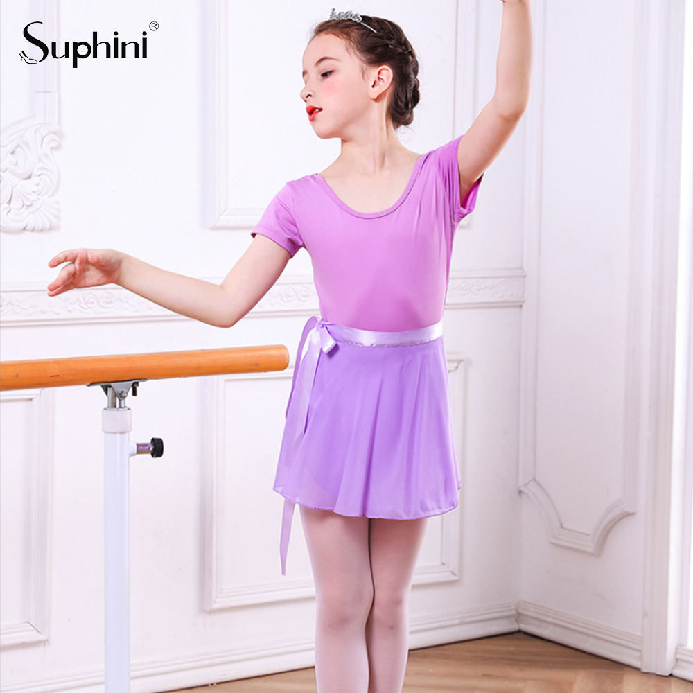 Ballet Skirt Suphini Dance Wear Princess Dress Tutu Kids Baby Pink Cotton Skirt Practice Performance Wear Suite Dancing Girl Ballet Wear
