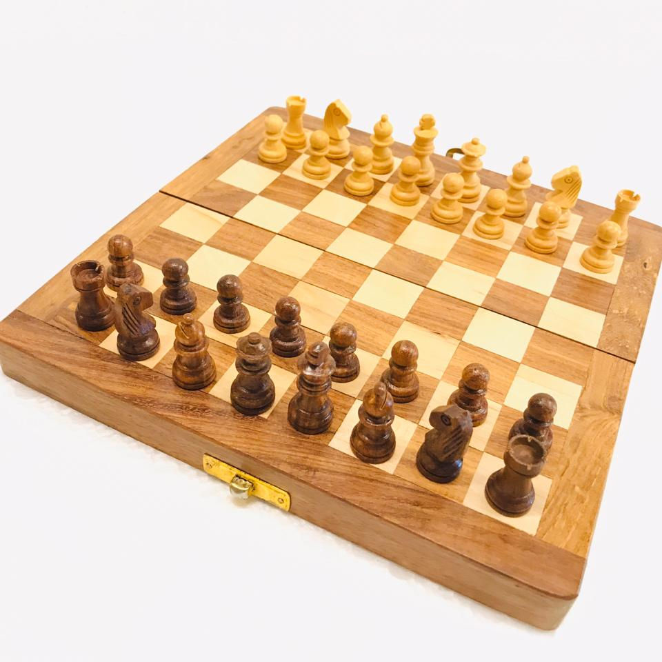Wholesale wooden Handmade folding chess board game indoor Decorative Gift Item Home Decor Hand painted Craft christmas gift