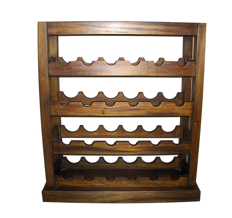New Product Affordable Wine Rack Wood Made from Solid Home Furniture From Indonesia