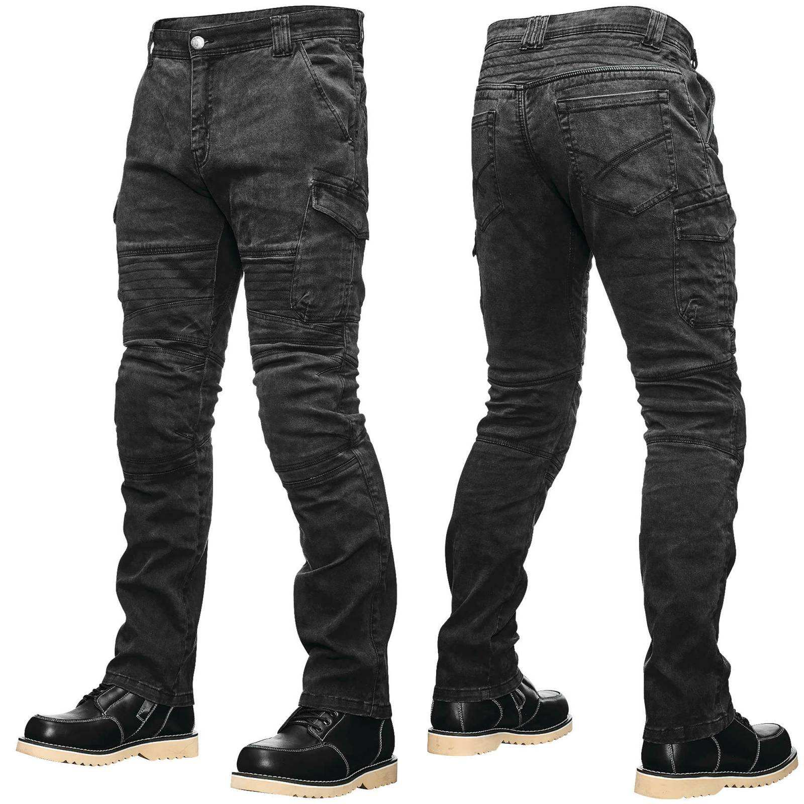 New Motorcycle Riding Jeans Pant Reinforced With Protective Lining On Impact Areas