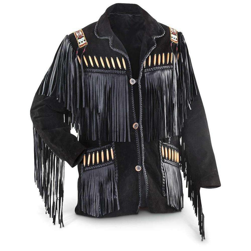 suede jacket/suede fringe leather jacket plus size