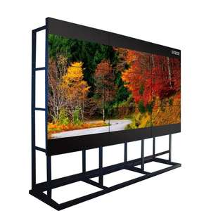 55 Inch Bezel Sempit Samsung Video Wall LCD HDMI atau Matriks Spliter Splicing Layar