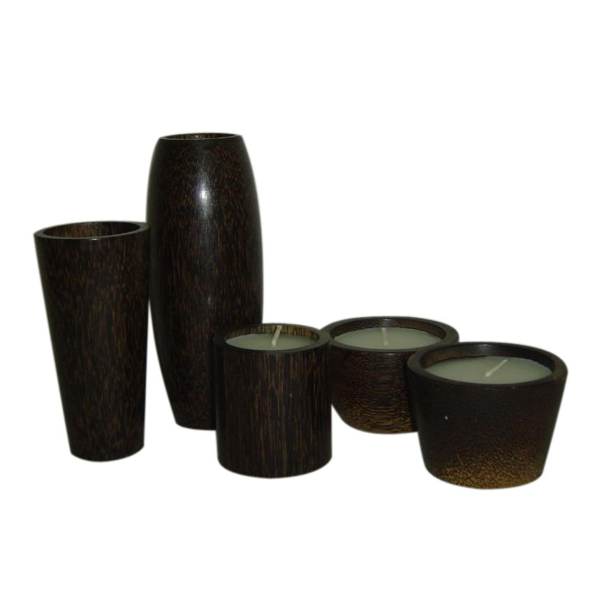Wax Filled Candle with brown outer