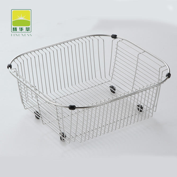 Manufacture High Quality Kitchen Sink Dish Drainer Organizer Stainless Steel Drying Dish Rack