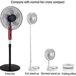 Desk and table fan, Air Circulator Fan Portable Travel Mini Fans Battery Operated or USB Powered,Adjustable Height from 14.2 i