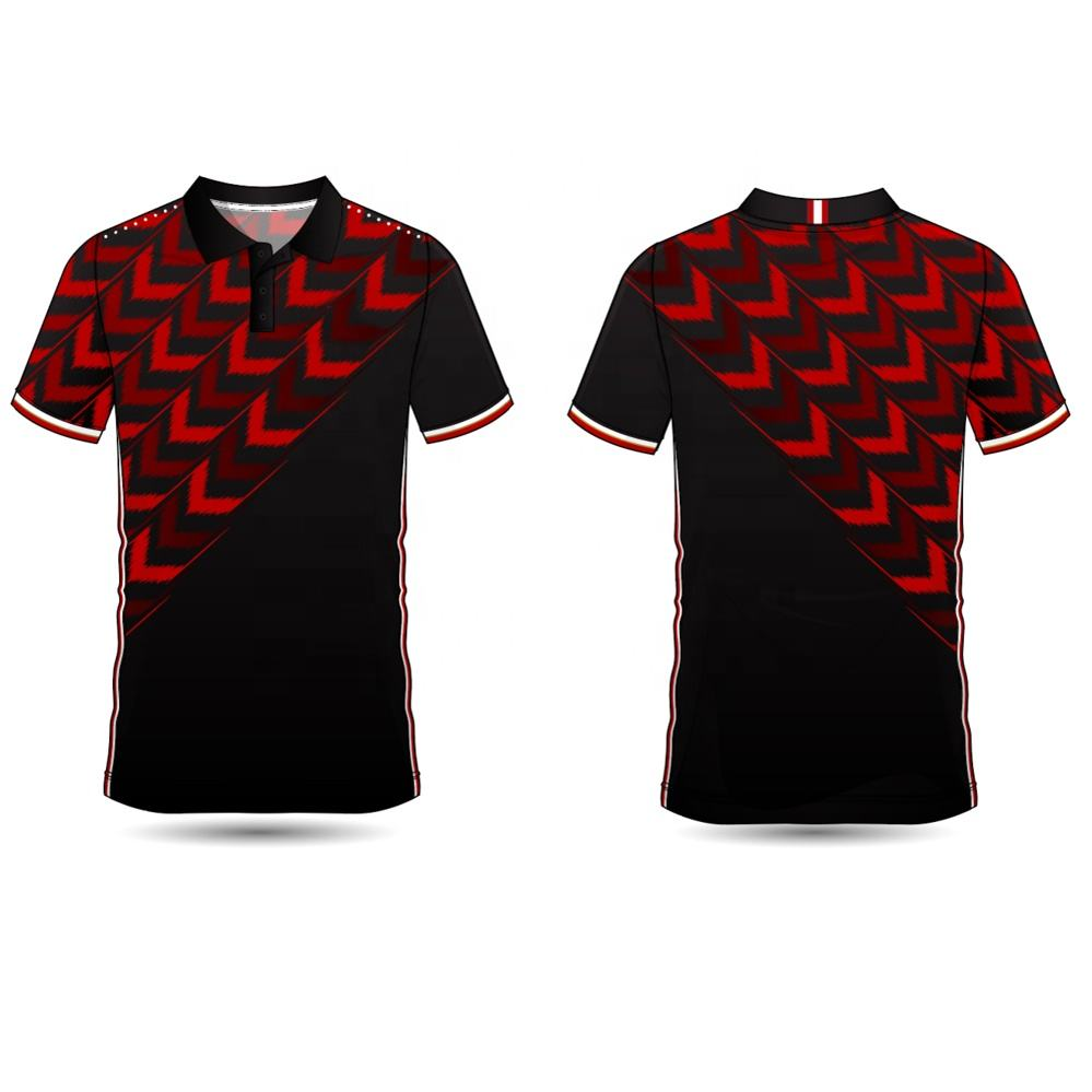 cheap custom dye sublimation print 100% polyester polo shirt t shirt