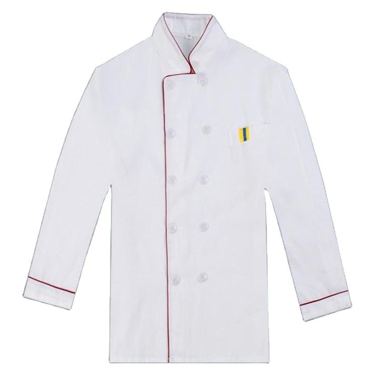 Customized polyester cotton chef work clothing hotel work coats long sleeve restaurant chef uniform coat