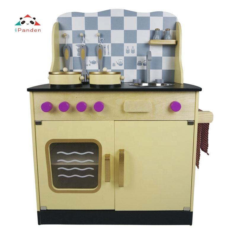 High Quality Wooden Kitchen Play Set For Indoor And Outdoor Games Cooking Pretend Toy For Children Wooden Kitchen Playsets