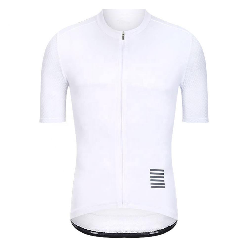 Custom Sublimation Cycling Jersey Men Tops Bicycle Clothe Short Sleeve Bike Clothing Full Zipper Ropa Wear With Three Pockets