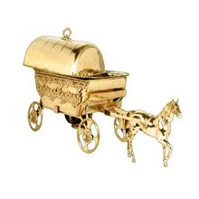 New Look Horse Cart Brass Metal Catering Serving Dish.
