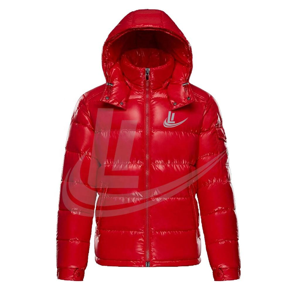 Top Quality Red custom Puffer jacket / Puffy jacket / Quilted padded Jacket, Bubble jacket