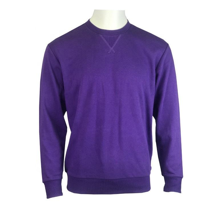 Best Seller Men's Solid Color Long Sleeve Crew Neck Basic Sweatshirt With Custom Logo