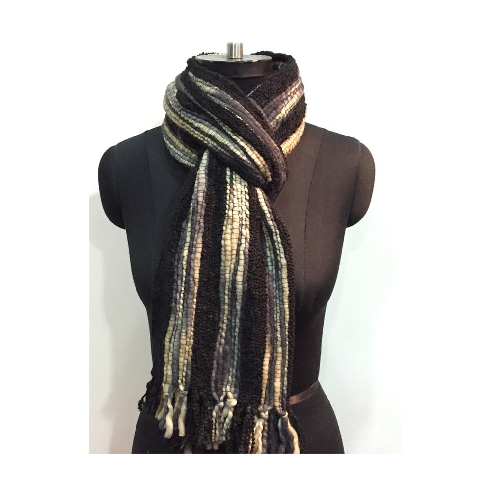 Women Knitted Scarf Professional Manufacturer High Quality Multi Color Woven Scarf