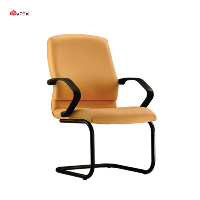 Office Space Planner Cantilevered Visitor Quality Durable Fabric Office Guest Chair with Armrest