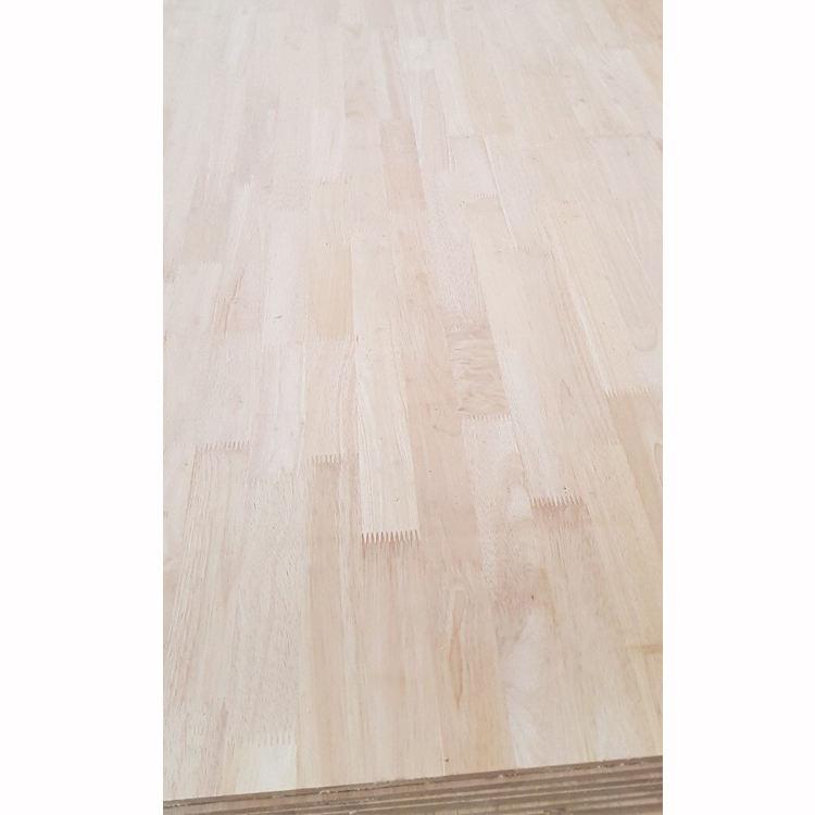 De alta calidad para el tamaño de 1220X2440 de madera de caucho tailandés dedo conjunto de mesa de
