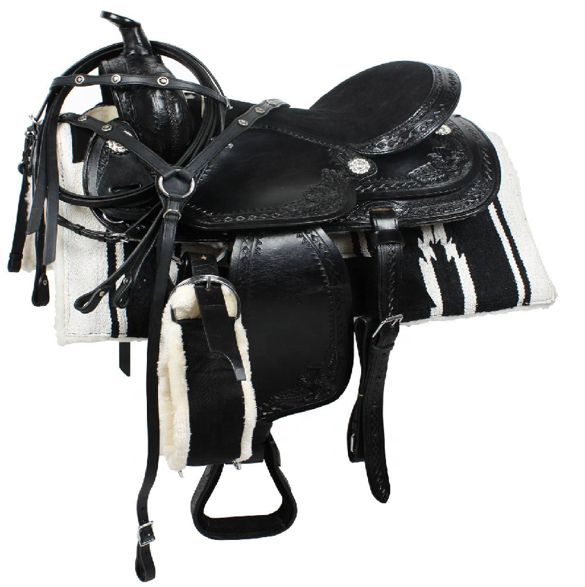 Manaal Enterprises High Quality Premium Leather Western Horse Saddle With Pad