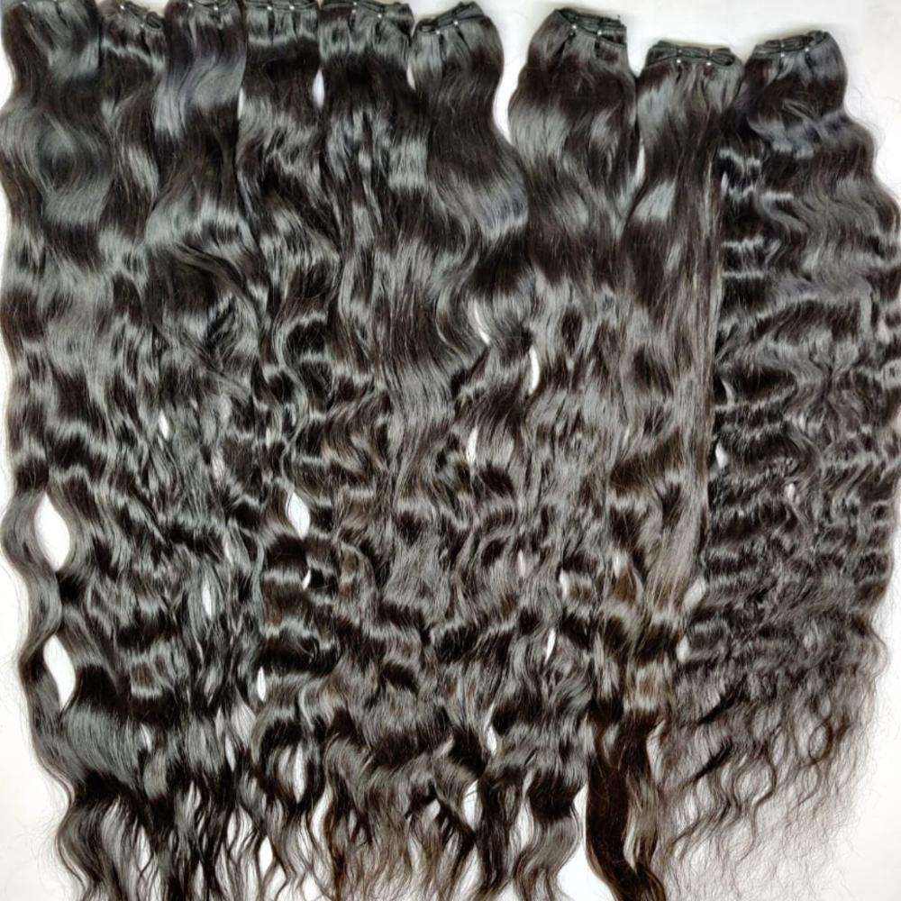 RAW INDIAN HAIR WITH ALIGNED CUTICLES 100% NATURAL AND CUTICLE ALIGNED INDIAN WAVY