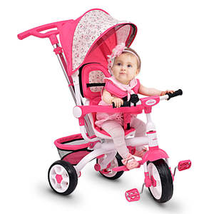 2020 hot sale 4-In-1 baby tricycle/CE children's tricycle with foldable and rotating seat/kid toys best tricycle for babies