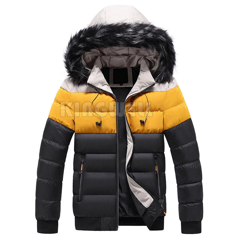 New Cotton Padded Puffer Jackets Men Fashion Tops Zipper Up Outerwear Coats Bomber Jacket/Men's Jacket Winter Parkas Hoodies
