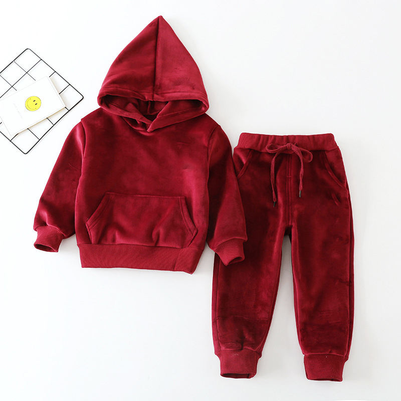 kids latest design sports velour tracksuit