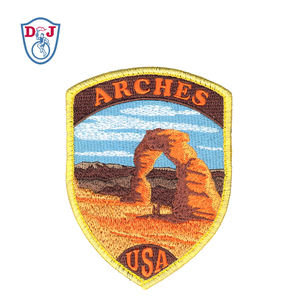 New Embroidery Patch Custom Design USA Landscape Arches National Park Hook Backing