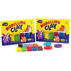 Colorful Kids Play Dough Square  Modelling Clay 10 Colors NIKKI MODELLING CLAY 10 COLOURS