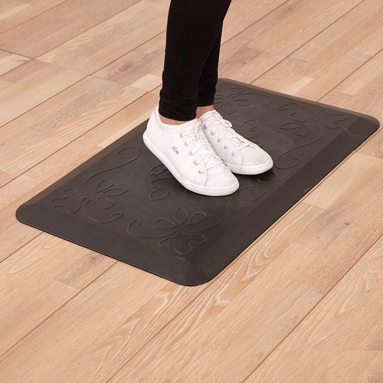 2020 Comfortable Nonslip Anti Fatigue Kitchen and Standing Desk PU Foam Floor mat