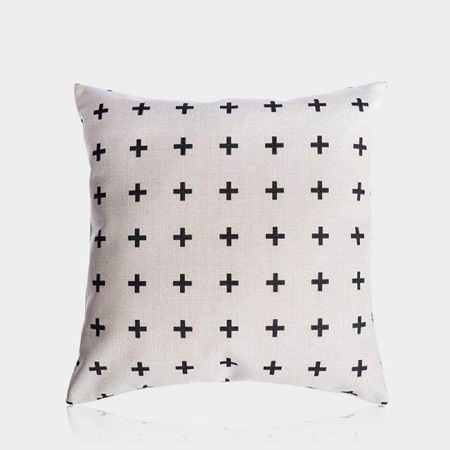 Cotton Canvas Thick Throw Pillow Cases 45 x 45 cm