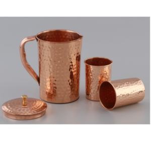 High Quality Original Copper Water jug and Glasses ,made in India
