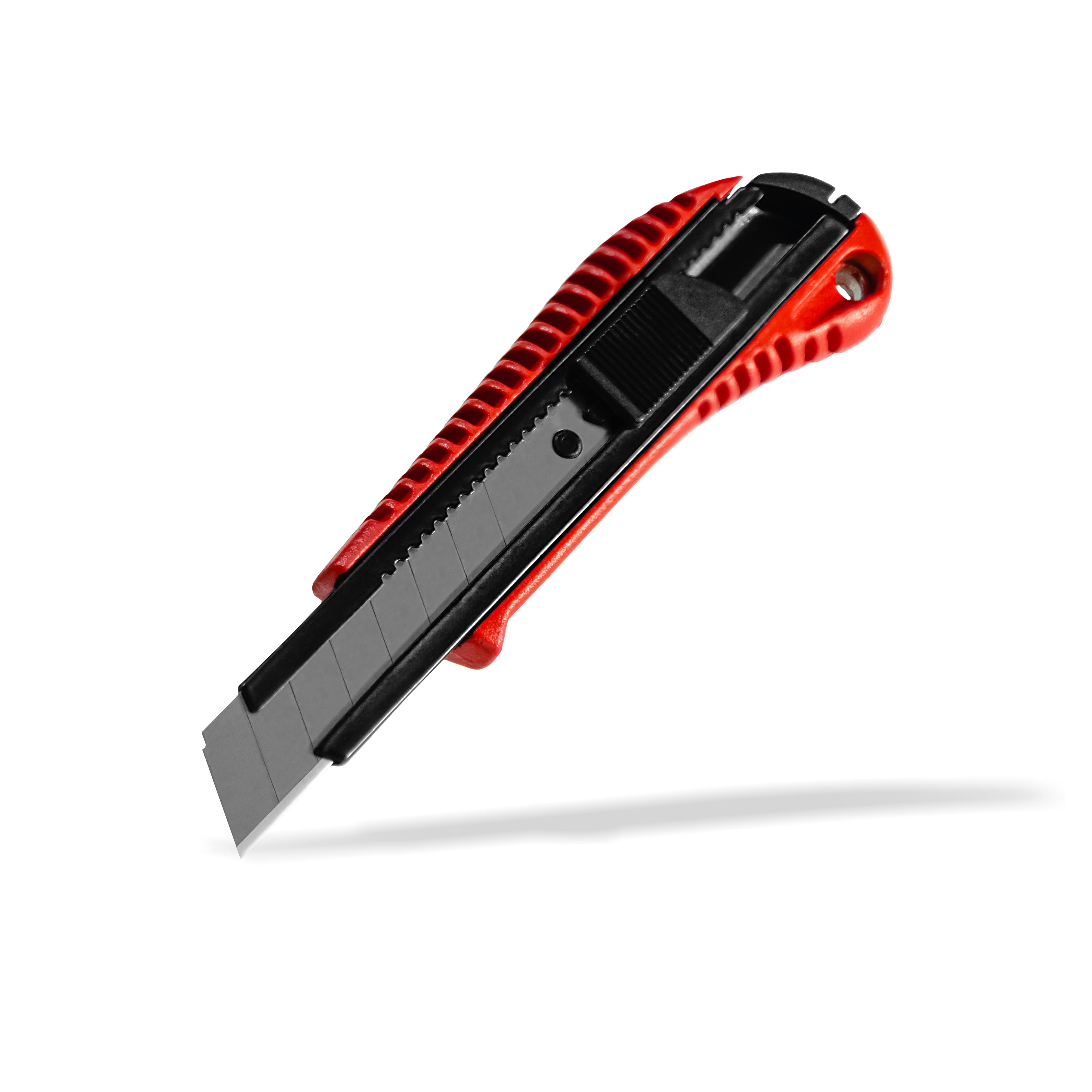 Aluminum Body 18 mm Carbon Steel SK5 Utility Knife Red