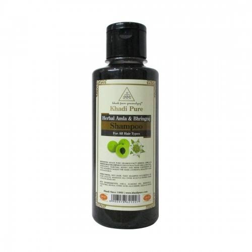 KHADI PURE HERBAL AMLA & BHRINGRAJ SHAMPOO - 210ML