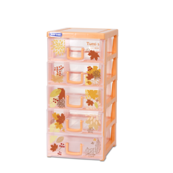 TOMI S small plastic cabinet wardrobe 5 racks can be foldable with cheapest price