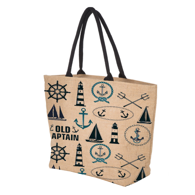 In canvas tote bag with nice printing handle padded Our Certification ISO9001-2015 ISO14001-2015 SA8000-2014