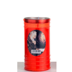 "Excellent Italian Decorative Grave Candle ""Padre Pio"" Series 80"