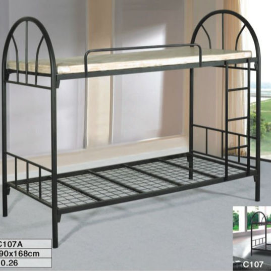 Saudi Arabic strong good quality bunk bed , shiny painting bunk bed ,thick metal iron steel bunk bed contract furniture bunk
