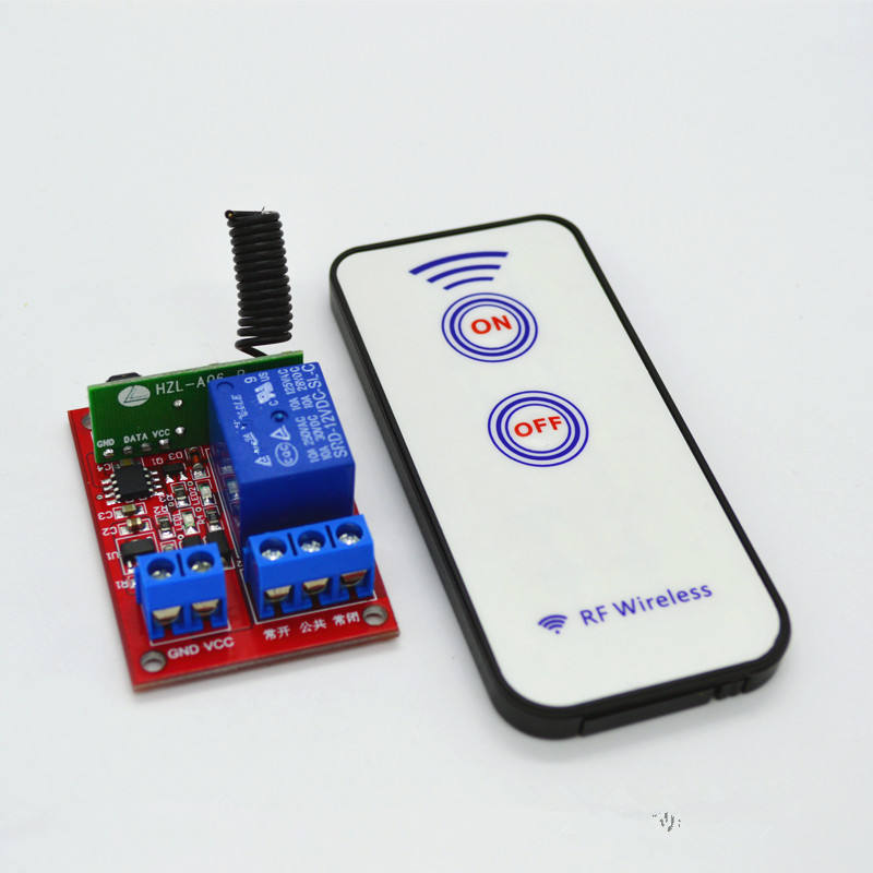 Wireless Receiver Relay Module + 2 Key RF 433MHz 12V 40mA 1 Channel Self-Lock Wireless Remote Control Switch 15-30m